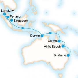 Singapore to Brisbane P&O Cruises Cruise