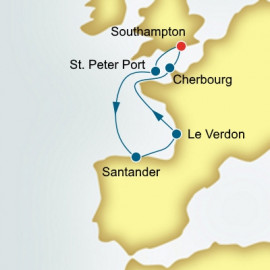 France Spain and Guernsey Itinerary