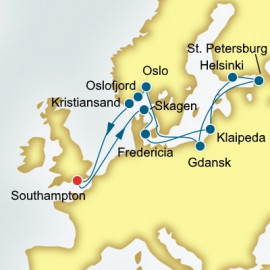 Scandinavia Poland and Russia P&O Cruises UK Cruise