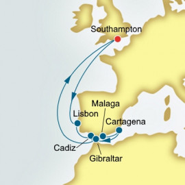 Round trip from Southampton over 11 nights on Arcadia P&O Cruises UK Cruise