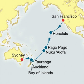 San Francisco to Sydney World Sector P&O Cruises UK Cruise