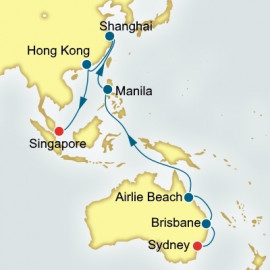 Sydney to Singapore World Sector P&O Cruises UK Cruise