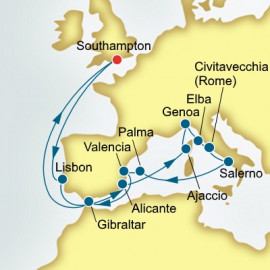Round trip from Southampton over 19 nights on Arcadia P&O Cruises UK Cruise