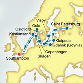 Round trip from Southampton over 16 nights on Arcadia P&O Cruises UK Cruise