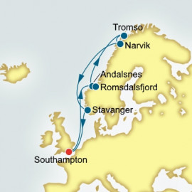 Round trip from Southampton over 12 nights on Arcadia P&O Cruises UK Cruise