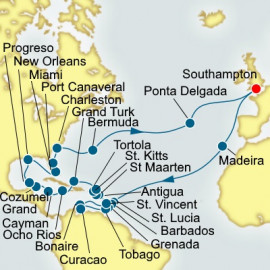 Caribbean and America Discovery Itinerary