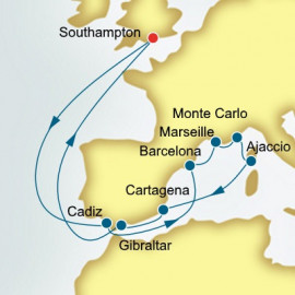 Spain and France and Monaco  P&O Cruises UK Cruise