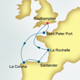 France and Spain and Guernsey Itinerary