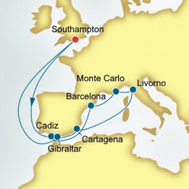 Spain Monaco and Italy P&O Cruises UK Cruise