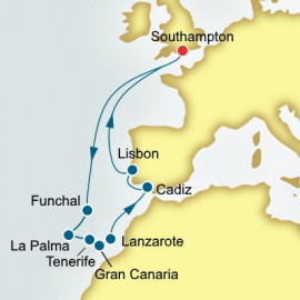 Canary Islands Spain and Portugal P&O Cruises UK Cruise