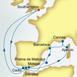 Spain and France P&O Cruises UK Cruise