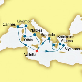 Italy Malta and Greece P&O Cruises UK Cruise