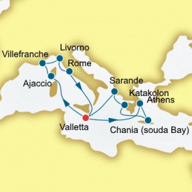 France Italy and Greece Itinerary