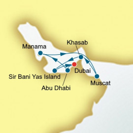 Round trip from Dubai over 10 nights on Oceana Itinerary