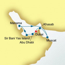 Round trip from Dubai over 10 nights on Oceana P&O Cruises UK Cruise