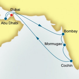 Dubai and Arabian Gulf and India Itinerary