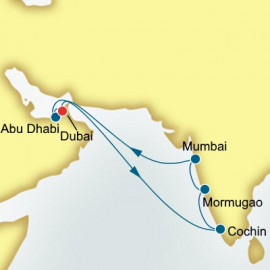 Dubai Arabian Gulf and India Itinerary