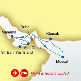 Fly Cruise Holiday Arabian Gulf Itinerary