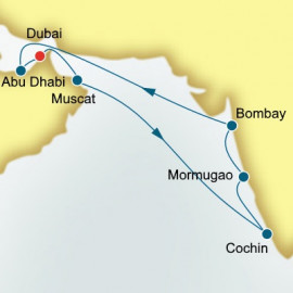 Dubai and Arabian Gulf and India P&O Cruises UK Cruise