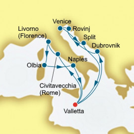 Round trip from Valletta over 14 nights on Oceana P&O Cruises UK Cruise