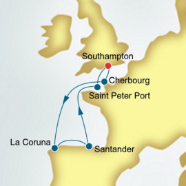 France and Spain and Guernsey  P&O Cruises UK Cruise
