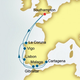 Spain and Portugal and Gibraltar  P&O Cruises UK Cruise