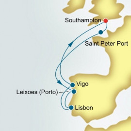 Guernsey and Portugal and Spain P&O Cruises UK Cruise