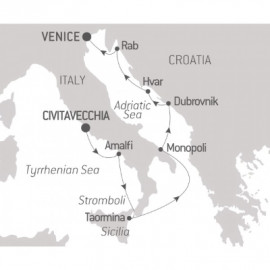 From the Tyrrhenian Sea to the Adriatic Ponant Cruise