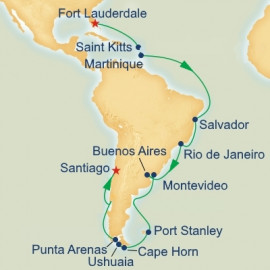 Antarctica Cape Horn and Brazilian Grand Adventure Itinerary