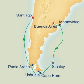 Antarctica and Cape Horn Itinerary