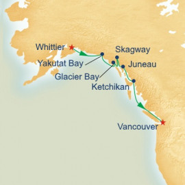Voyage of the Glaciers with Glacier Bay Itinerary