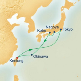 Japan and Taiwan (from Keelung) Itinerary