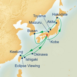 Southern Islands and Circle Japan with Annular Solar Eclipse Princess Cruises Cruise