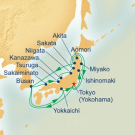 Northern Japan and Sea of Japan Itinerary