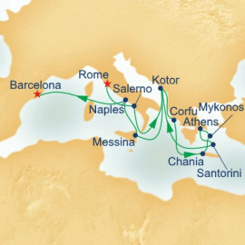 Adriatic and Aegean Medley Itinerary