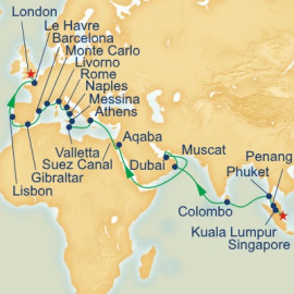 Indian Ocean and Europe Grand Adventure Princess Cruises Cruise