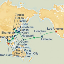 Pacific Crossing and Asia Itinerary