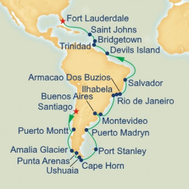 Cape Horn and Brazilian Grand Adventure Itinerary