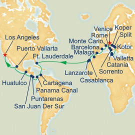 Venice to Los Angeles Princess Cruises Cruise