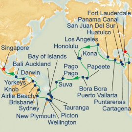 World Cruise Liner - Panama Canal, South Pacific and Asia Princess Cruises Cruise