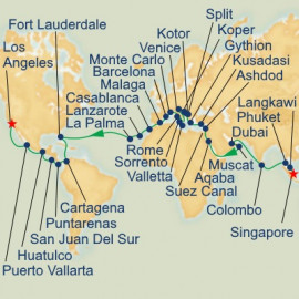WC Liner - Indian Ocean, Mediterranean and Panama Canal Princess Cruises Cruise