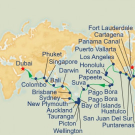 WC Liner - Panama Canal, South Pacific and Indian Ocean Princess Cruises Cruise