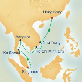 Singapore to Hong Kong Princess Cruises Cruise