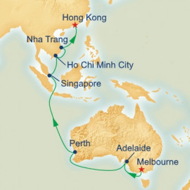 Melbourne to Hong Kong Princess Cruises Cruise