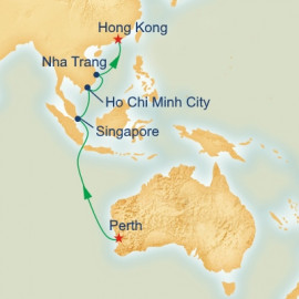 Fremantle to Hong Kong Princess Cruises Cruise