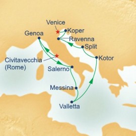 Western Mediterranean and Adriatic Connoisseur Princess Cruises Cruise