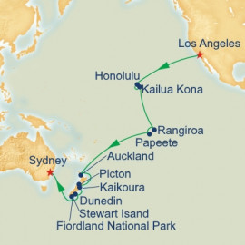 Los Angeles to Sydney World Sector Itinerary