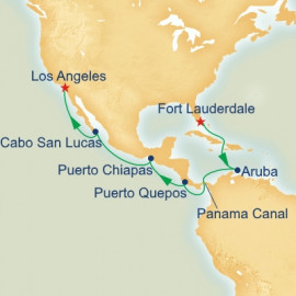 Fort Lauderdale to Los Angeles World Sector Itinerary