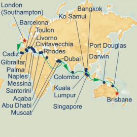 London to Brisbane Princess Cruises Cruise