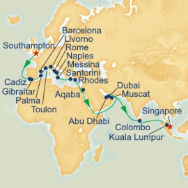 London to Singapore Princess Cruises Cruise
